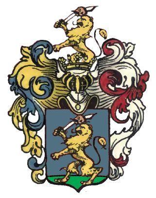 A Szalay címer festmény alapjául szolgáló, javítandó címerrajz.