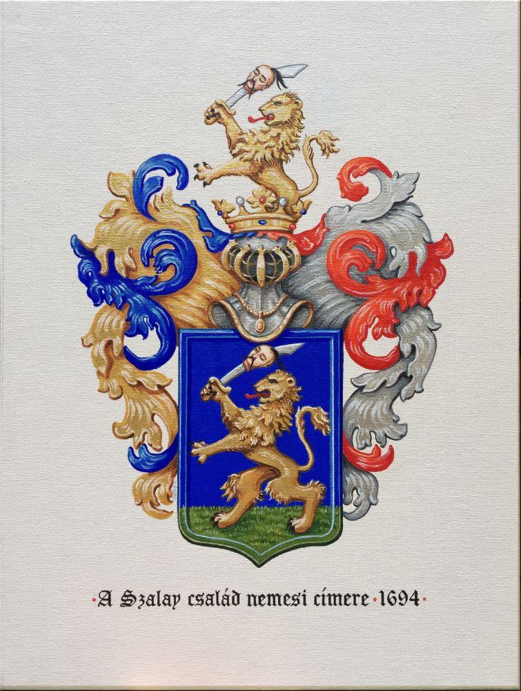 Szalay család címere 1694; festette: Máthé Erika