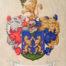 A Skreka család nemesi címere; festette: Máthé Erika