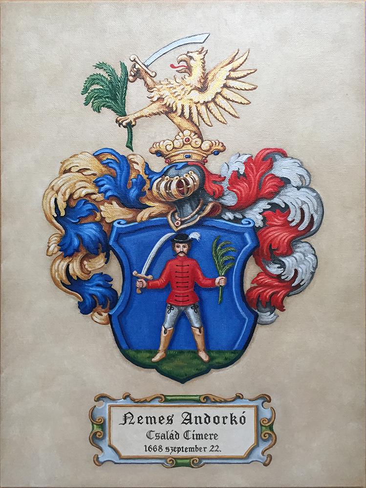 Máthé Erika: A nemes Andorkó család címere, 1668 (vászon, olaj)